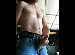 big-white-cock;dripping-cum;abs,Solo Male;Gay Huge dripping...