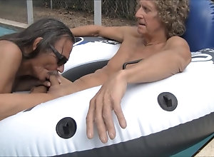 Amateur (Gay);Blowjobs (Gay);Outdoor (Gay);HD Gays;In the Pool;Pool;Slut Jamie Blows Jenny...