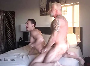 bareback;lance-charger;fingering;daddy;anal;raw-fuck;pounding;cum-shot;porn-stars;pits;power-bottom;power-top;boy;rimming;ass-to-mouth,Bareback;Daddy;Muscle;Blowjob;Pornstar;Gay;Interracial;Cumshot;Tattooed Men,Lance Charger Sunset Rough Fuck...