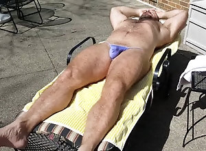 Beach (Gay);Bears (Gay);Daddies (Gay);Muscle (Gay);Outdoor (Gay);HD Gays;Sunning;Purple Sunning in purple...