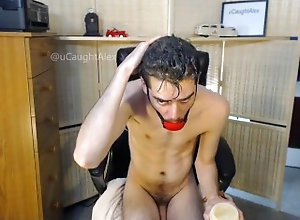 hair-fetish;wet-hair;peanut-butter;ball-gag,Fetish;Solo Male;Gay;Amateur;Webcam;Verified Amateurs Peanut Butter...
