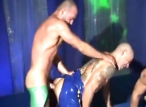 Gay Porn (Gay);Muscle (Gay);Foursome Latex foursome