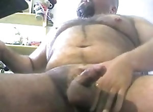 Gay Porn (Gay);Amateur (Gay);Bears (Gay);Daddies (Gay);Masturbation (Gay) Hairy bear cumming
