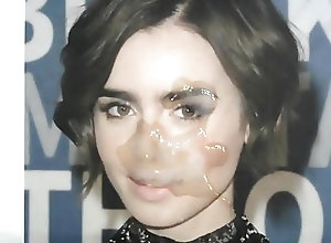 Cum Tributes (Gay) Lily Collins...