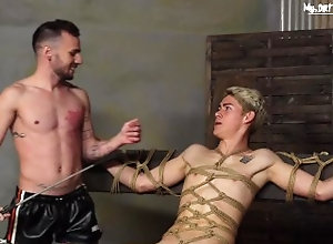 mydirtiestfantasy;bondage;twink;face-fuck;facefuck;raw;bareback;fetish;kink;boynapped;domination;slave;twink-slave;anal-gay;friends;bondage-suspension,Bareback;Twink;Fetish;Blowjob;Pornstar;Gay;Uncut;Rough Sex,Galiel Swan Blond twink...