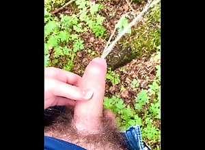 piss;outdoor;solo-male-moaning;nature,Solo Male;Big Dick;Gay;Public Horny Lad Pissing...