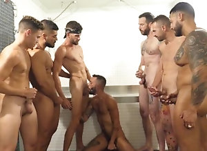 big-cock;latin,Latino;Big Dick;Pornstar;Group;Gay;Handjob;Cumshot;Tattooed Men,Koldo Goran;Viktor Rom BUKAKE VIKTOR