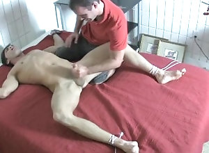 feet;gay;tickle;lick;suck;restrainded;bondage;muscle;big;cock,Gay;Feet Tied up Foot...