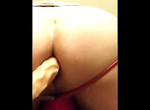 anal;dildo;masturbation;bisexual-men;chubby;jockstrap,Solo Male;Gay My first time...